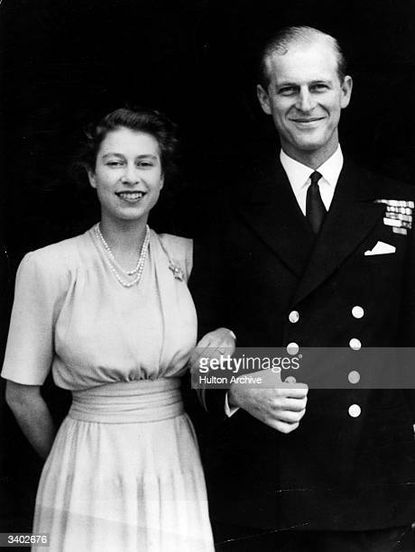 The first official picture after the announcement of the engagement of Princess Elizabeth and Lieutenant Philip Mountbatten the former Prince Philip...