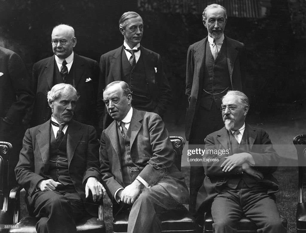 The Labour Cabinet at 10 Downing Street in London. Back row left to right - Tom Shaw, Arthur Greenwood and Noel Buxton. Front row left to right - Prime Minister Ramsay MacDonald, Arthur Henderson and Sidney Webb. Ramsay MacDonald was born in Lossiemouth. He moved to London in 1884 where he was active in the Labour movement. He helped to found the Labour Party in 1900 and was elected to the House of Commons as an MP in 1906. He became Labour Party Chairman in 1911 but resigned over the party's refusal to support his opposition to Britain's entry into World War I. MacDonald lost his seat in the House in 1918 but regained it (and the party leadership) in 1922. He went on to become Prime Minister and foreign secretary of the first Labour Government in British history, from January to November 1924. He served as Prime Minister again after the Labour party's victory in the May 1929 election but resigned two years later rather than implement his party's plans to halt the economic depression. He immediately formed a coalition government, which he led as Prime Minister, supported by the Conservatives and Liberals. MacDonald resigned due to ill health in 1935 and served as lord president of the Council in the cabinet of Prime Minister Stanley Baldwin until he died in November 1937. Arthur Henderson (1863 - 1935) was born in Glasgow but brought up in Newcastle where he worked as an iron moulder and became a lay preacher. He helped to establish the Labour party and was appointed chairman on several occasions (1908 - 1910, 1914 - 1917 and 1931 - 1932). He also served in the wartime Coalition cabinet and later worked as Home Secretary (1924) and Foreign Secretary (1929 - 1931). His enthusiasm for disarmament issues also led to him being elected chairman of the International Disarmament Conference in 1932. He was awarded the Nobel peace prize in 1934.