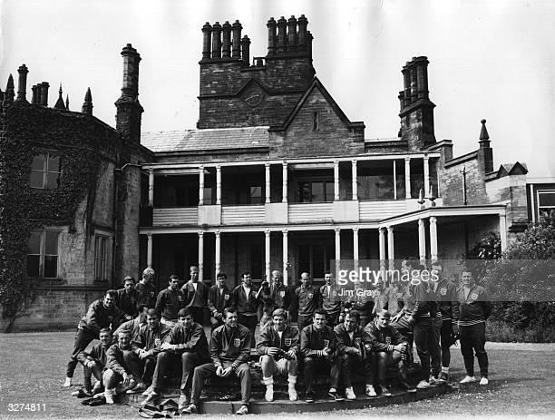 England's world cup squad at the secluded National Recreation Centre at Lilleshall in Shropshire where they have been training