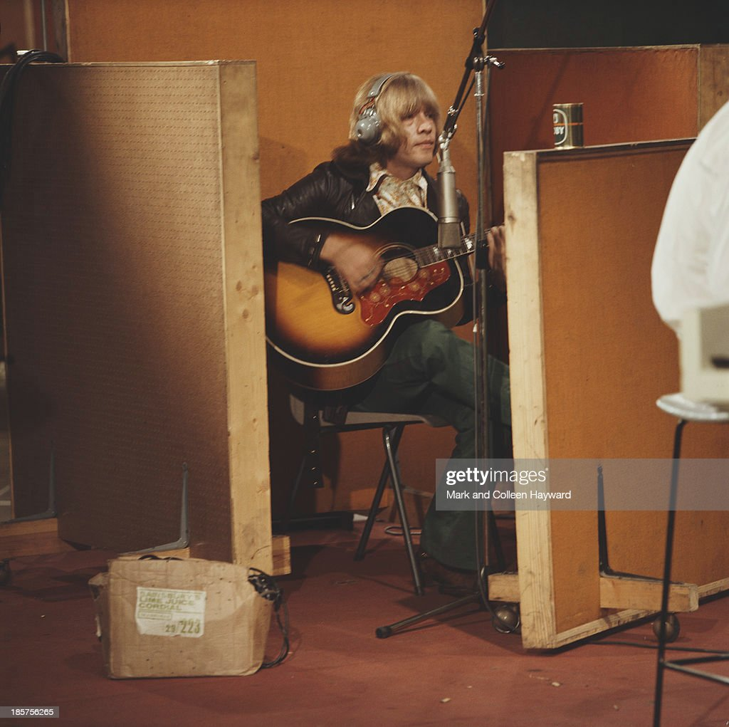 Brian Jones from The Rolling Stones records guitar on the track 'Sympathy for the Devil' at Olympic Studios in Barnes London on 10th June 1968