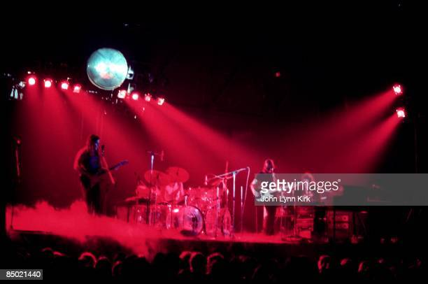 Photo of Nick MASON and Roger WATERS and PINK FLOYD LR David Gilmour Nick Mason Roger Waters Rick Wright performing live onstage at Kent State...