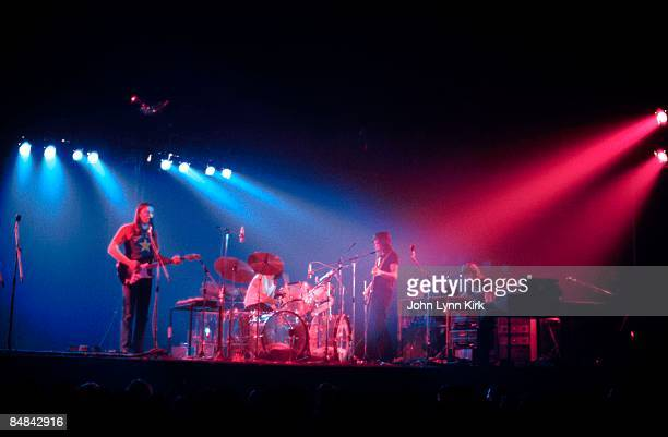 Photo of PINK FLOYD Dark side of the Moon tour David Gilmour Nick Mason and Roger Waters perform live on stage at Kent State University in Ohio on...