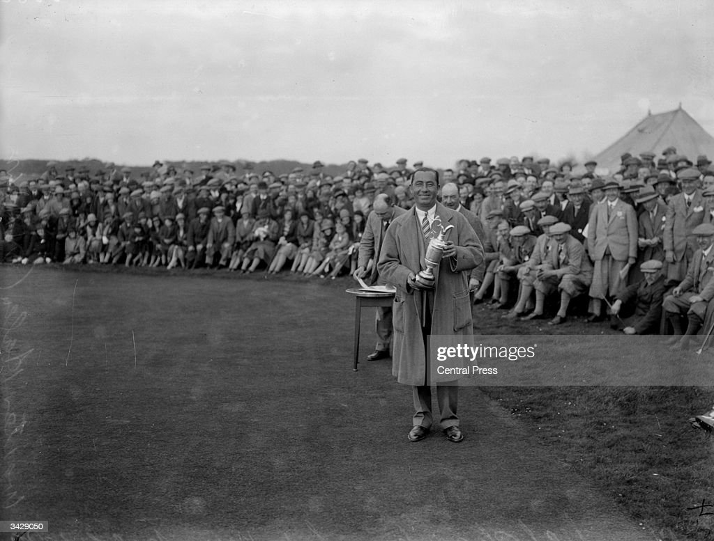 American golfer and winner of the British Open Golf Championship Walter Hagen at Muirfield