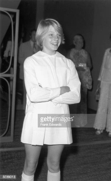 11yearold American actor Jodie Foster smiles with her arms folded while attending an ABCTV party at the Century Plaza Hotel Los Angeles California...
