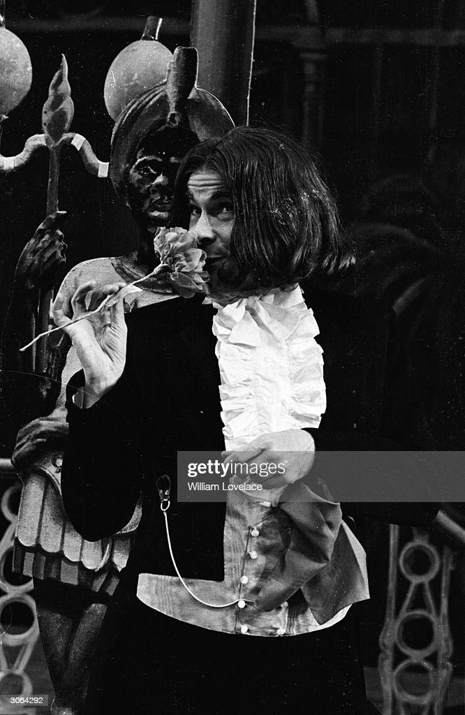 Comedian and impersonator Stanley Baxter as a Victorian poet, one of his eight different character appearances in his show 'Phil The Fluter'.