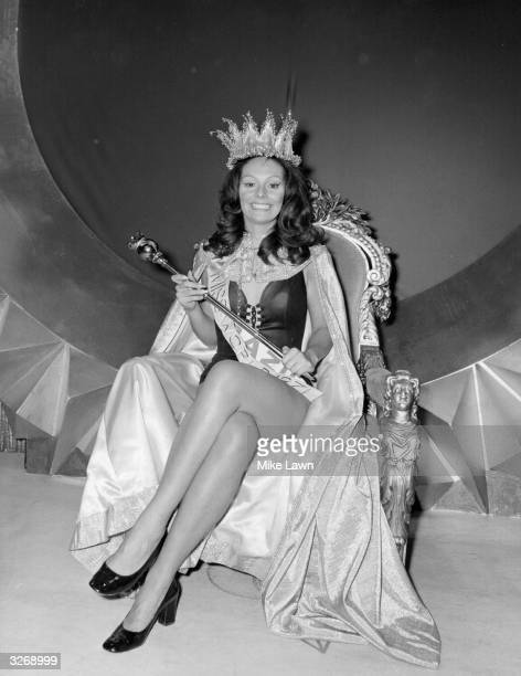 Miss Brazil 22 year old Lucia Petterle crowned Miss World 1971 at the Albert Hall London