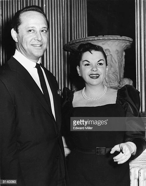American singer and actress Judy Garland with her husband Sidney Luft at a reception in her honour at Londonderry House