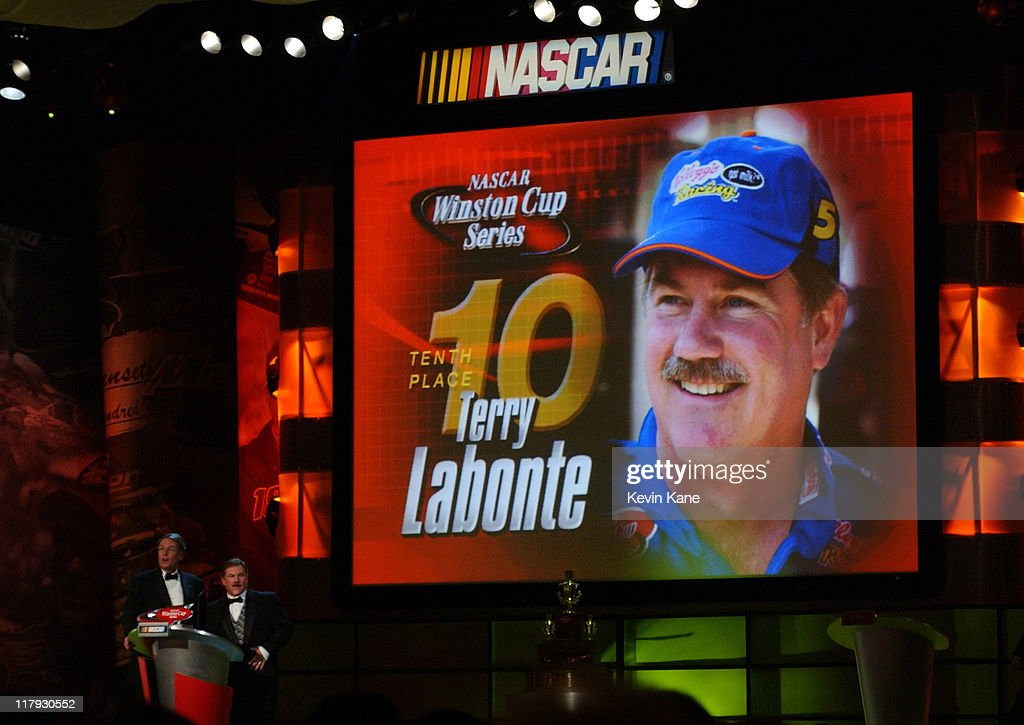 10th place finisher in the NASCAR Winston Cup points standings Terry Labonte
