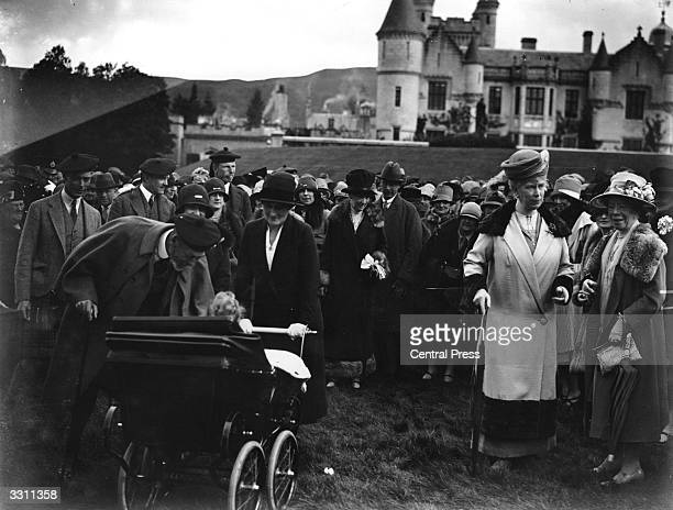 The Royal Garden Party at Balmoral From left to right are the Duke of York King George V the Duchess of York and Queen Mary Princess Elizabeth is in...
