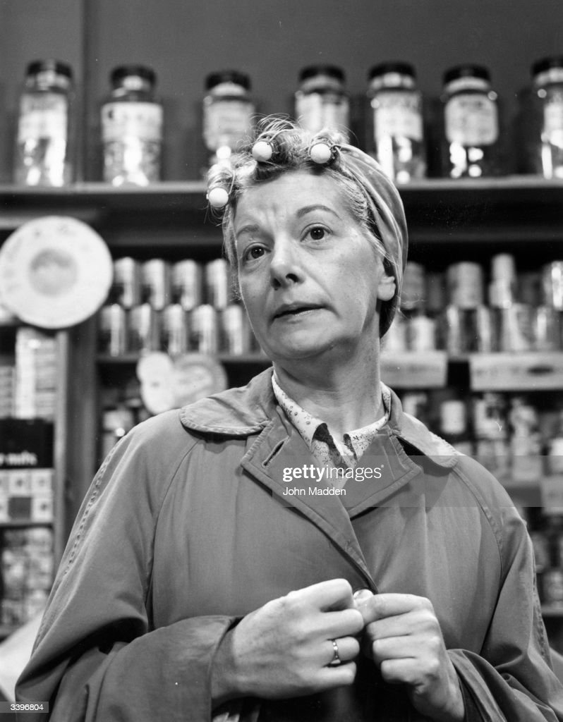 Actress Jean Alexander as Hilda Ogden in the television soap opera 'Coronation Street'.