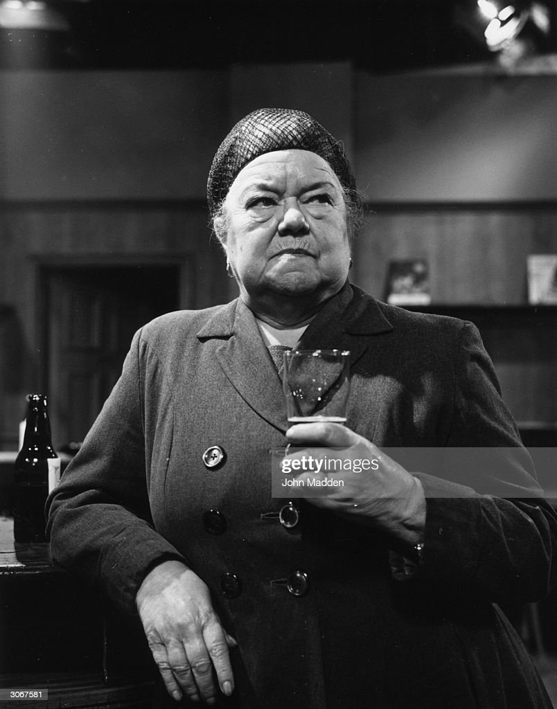 English actress Violet Carson playing the part of Ena Sharples in Coronation Street.