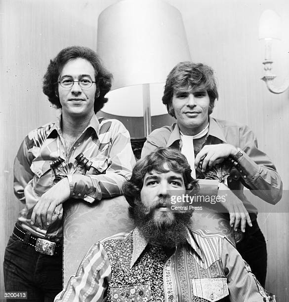 Rock 'n' roll group Creedence Clearwater Revival at a press reception in London as part of their European tour They are from left to right Stu Cook...