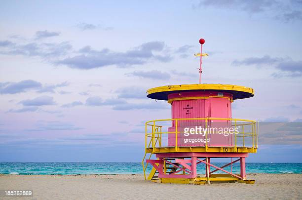 10th Street lifeguard hut in Miami Beach, FL