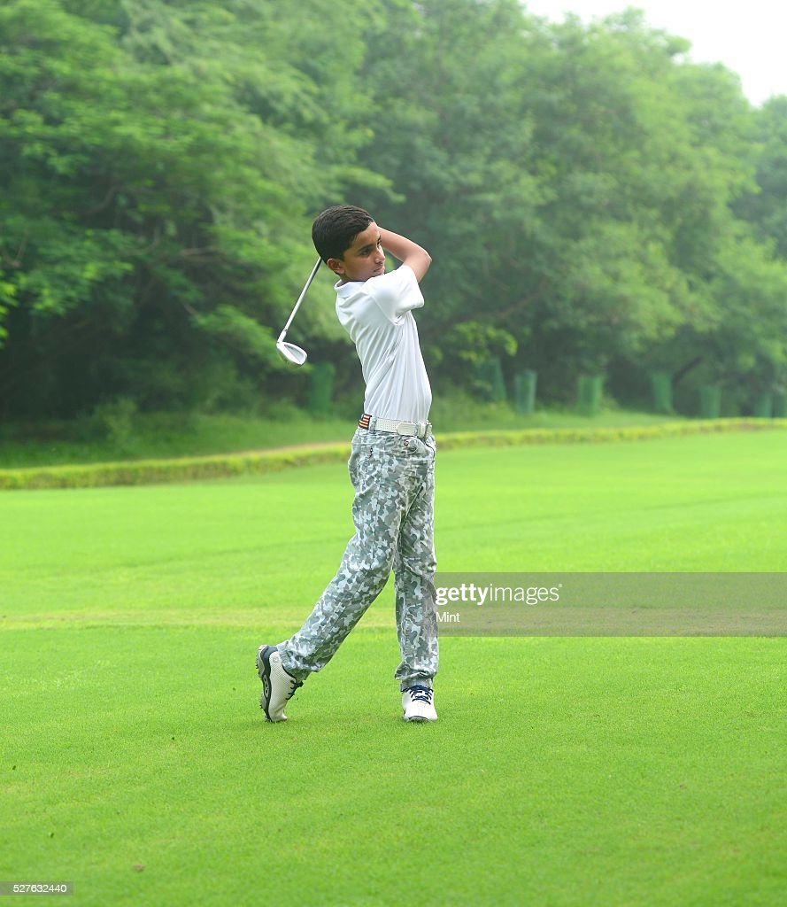10-year-old Shubham Jaglan who won Junior World Golf Championship 2015 in San Diego, California, at Delhi Golf Club on August 10, 2015 in New Delhi, India. Jaglan was born in village Israna, Panipat district, Haryana. His father is a milkman by profession and his family practices Pehlwani. He is receiving his primary education in his village.