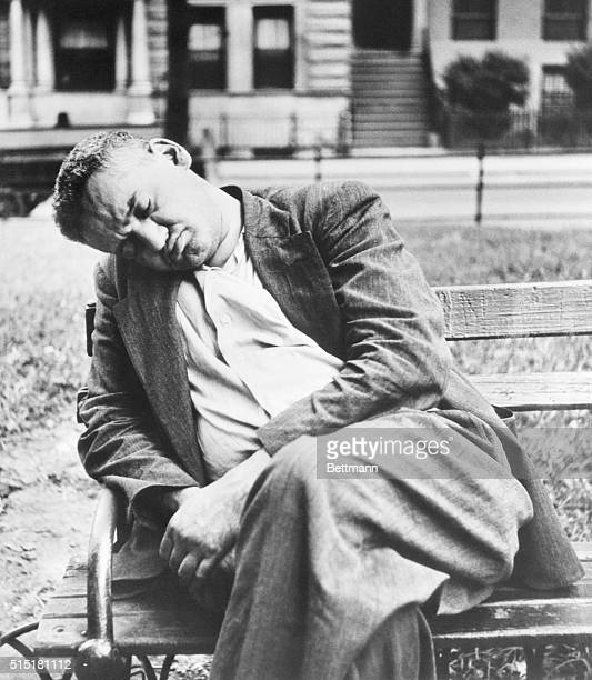 11/1/1946New York NYWeeges likes this picture of himself made by a girl photographer when he fell asleep in Washington Square Park 'I like this...