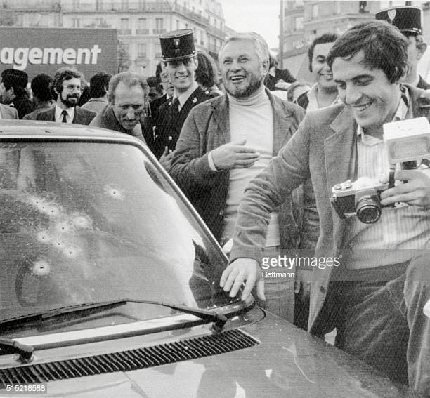 11/2/1979Paris France Commissaire Marcel Broussard Chief of the AntiGang Brigade smiles after his sharpshooters killed 11/2 the most wanted criminal...