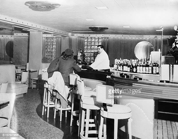 Boston MA This photo of the Melody Lounge bar in the Cocoanut Grove night club was taken after its opening before roaring flames swept throught the...