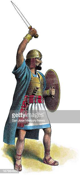 113p x 246p Doug Griswold color illustration of King David