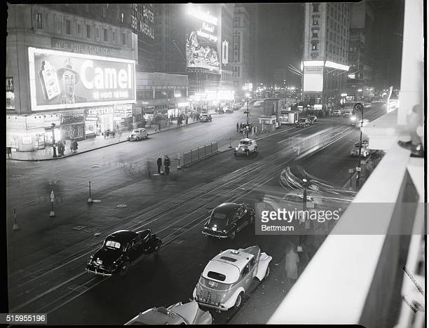 11/5/1946New York NY Election night was 'just another Tuesday night' to disgusted police guarding Times Square About 5000 people streamed along the...