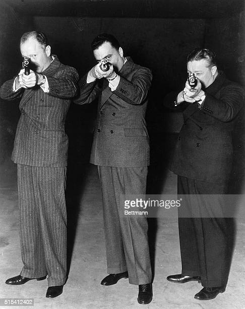11/7/1935Washington DC'Amos' John Edgar Hoover Director of the Federal Bureau of Investigation and 'Andy' of 'Amos 'N' Andy' visted the offices of...