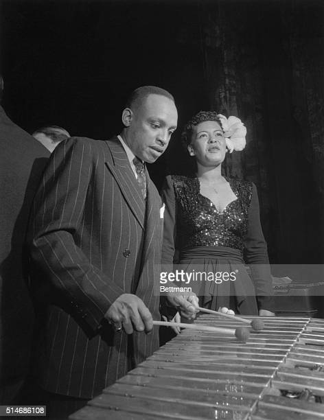 1/18/1944New York NY The music waxes sweet and hot as Lionel Hampton and Billie Holliday take over at Exquire's Fourth annual all American Jazz...