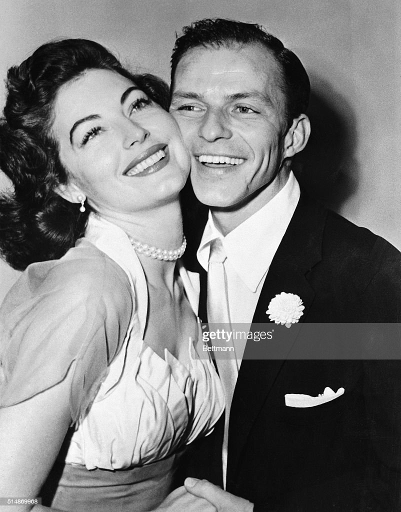 Crooner <a gi-track='captionPersonalityLinkClicked' href=/galleries/search?phrase=Frank+Sinatra&family=editorial&specificpeople=70024 ng-click='$event.stopPropagation()'>Frank Sinatra</a> and his bride <a gi-track='captionPersonalityLinkClicked' href=/galleries/search?phrase=Ava+Gardner&family=editorial&specificpeople=93109 ng-click='$event.stopPropagation()'>Ava Gardner</a> pose for a wedding picture following their marriage last night at Germantown, PA., home of Lester Sachs. The double ring ceremony was performed by Judge Joseph Sloane.