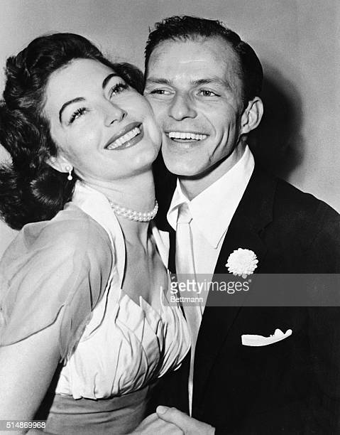 11/8/1951Philadelphia PA Crooner Frank Sinatra and his bride Ava Gardner pose for a wedding picture following their marriage last night at Germantown...