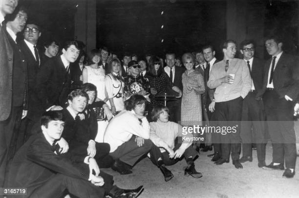 Some of the pop stars who attended the New Musical Express 19641965 Annual Pollwinners All star concert at the Wembley Empire Pool London Among them...