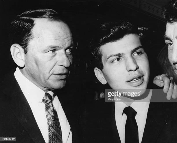 American singer and actor Frank Sinatra with his son Frank Sinatra Jnr