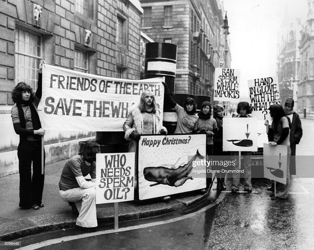 Protesters demonstrate outside the Ministry of Agriculture in Whitehall London with a Christmas card for the minister