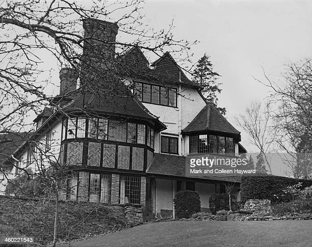 Exterior view of John Lennon's house at St George's Hill near Weybridge Surrey on 11th December 1965