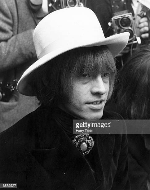 British rhythm and blues guitarist Brian Jones one of the founder members of The Rolling Stones
