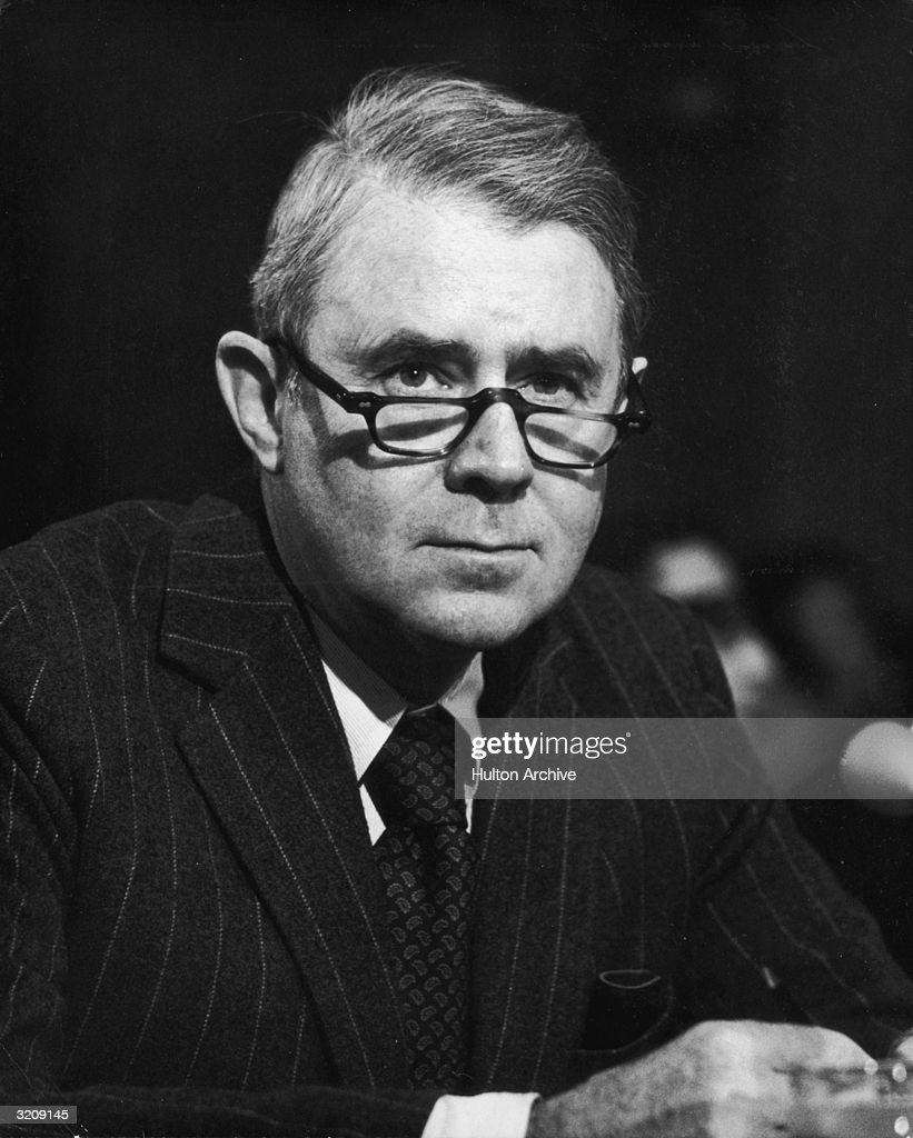 American lawyer Cyrus Vance (1917 - 2002), US Secretary of State nominee under President elect Jimmy Carter, testifying before the Senate Foreign Relations Committee, Washington, D.C.