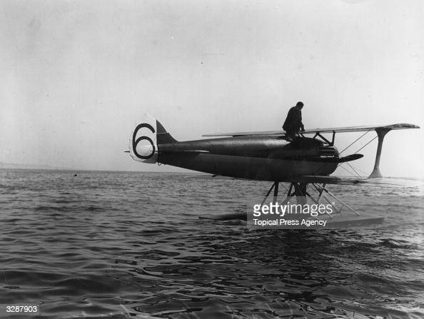 The French SPAD competing in the Schneider Cup the International Seaplane Race held at Bournemouth