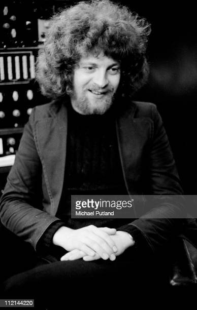 Jeff Lynne of Electric Light Orchestra portrait in recording studio London 11th July 1972