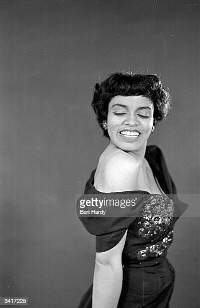 American opera and revue singer Muriel Smith during a performance of Sauce Tartare at the Cambridge Theatre Original Publication Picture Post 4810...