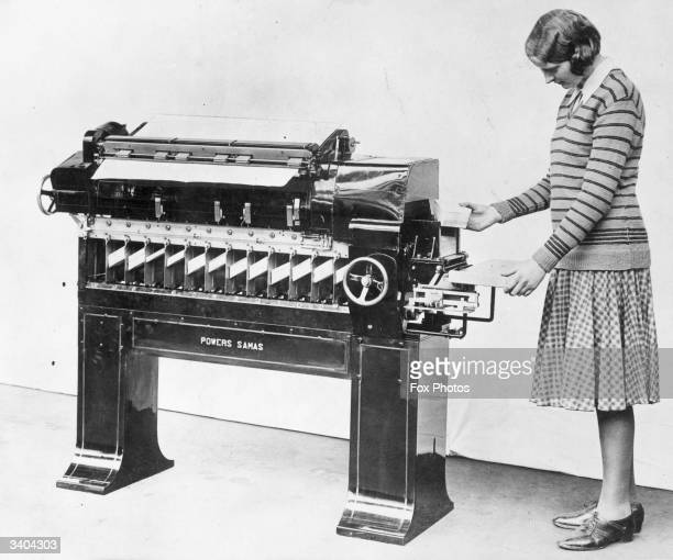 A Hollerith machine for processing the results of the 1931 census