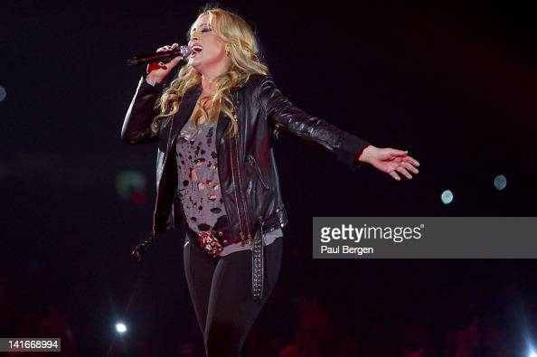 Dutch singer Anouk performs live on stage at the Gelredome in Arnhem Netherlands on 11th March 2012