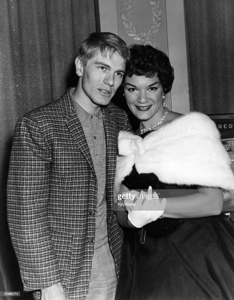 Pop singers Adam Faith (1940 - 2003) and Connie Francis.