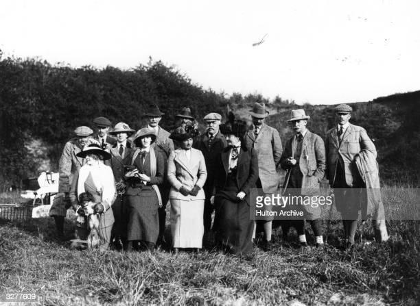 The Earl of Albemonte's partridge shoot at Quidenham