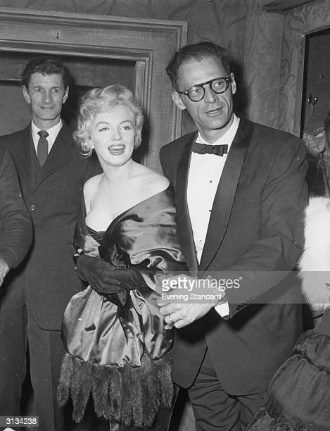 American film actress Marilyn Monroe with her third husband Arthur Miller
