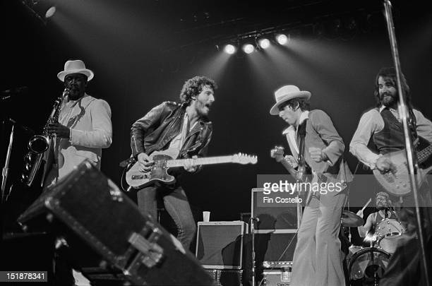 Bruce Springsteen and the EStreet Band perform live on stage at the Carlton Theatre in Red Bank New Jersey USA during the Born To Run tour on 11th...