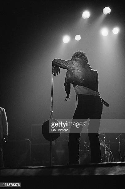 Bruce Springsteen performs live on stage at the Carlton Theatre in Red Bank New Jersey USA during the Born To Run tour on 11th October 1975