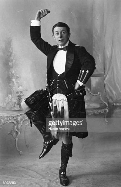 Actormanager Sir Edward Seymour Hicks who built up a reputation as a light comedian appearing in Scottish national dress and dancing the Gay Gordons...