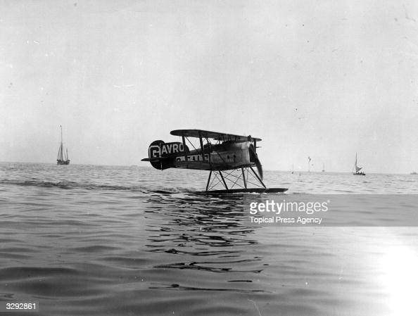 The AVRO entry in the Schneider International Seaplane Race Bournemouth