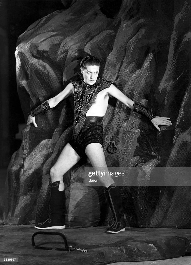 Welsh actor dramatist and composer Ivor Novello in a scene from 'Careless Rapture' written by Novello and showing at the Drury Lane Theatre London