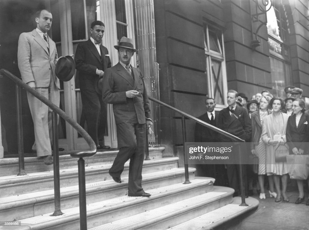 King Zog of Albania (1895 - 1961) leaving the Ritz Hotel on the occasion of a visit to London. He and his family are touring friendly countries in Europe after Italy annexed Albania in April 1939.