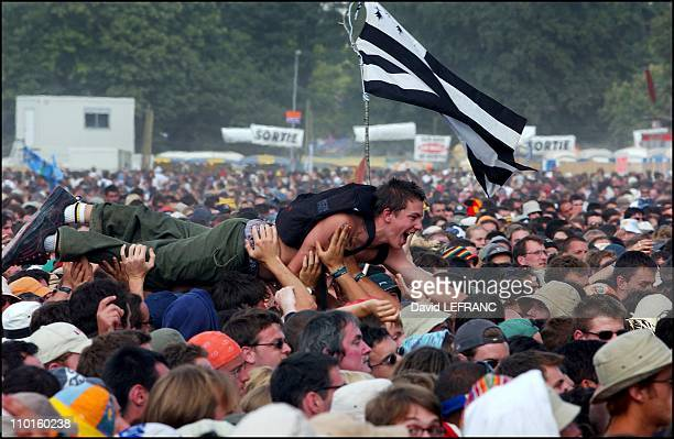 11th 'Vieilles Charrues' festival in Carhaix France on July 21 2002