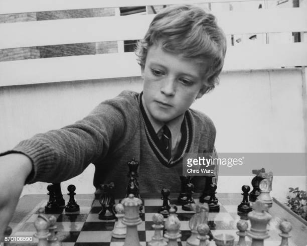 11yearold British chess champion Julian Hodgson at his home in Hammersmith London September 1974