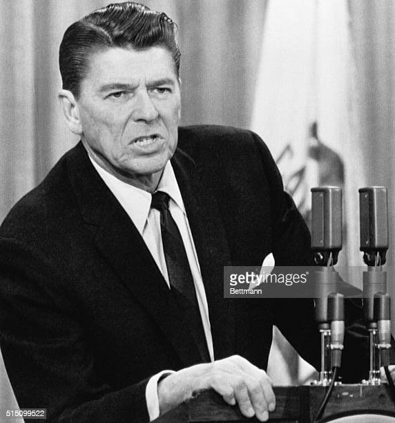Sacramento CA Governor Ronald Reagan calls upon San Francisco College officials to take 'whatever action is neccary' to maintain law and order on the...